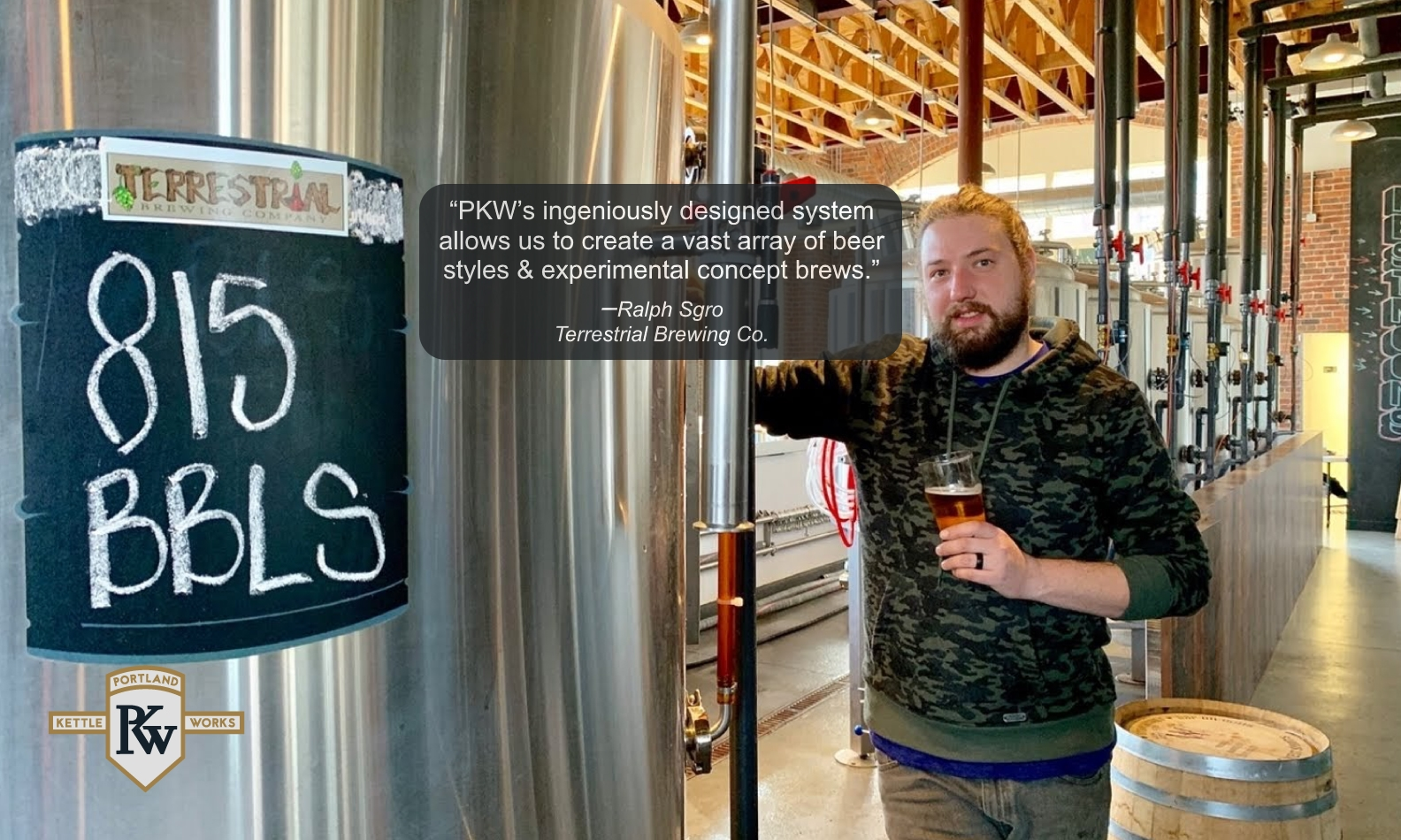 PKW Brewing Equipment at Terrestrial Brewery & Client Testimonial