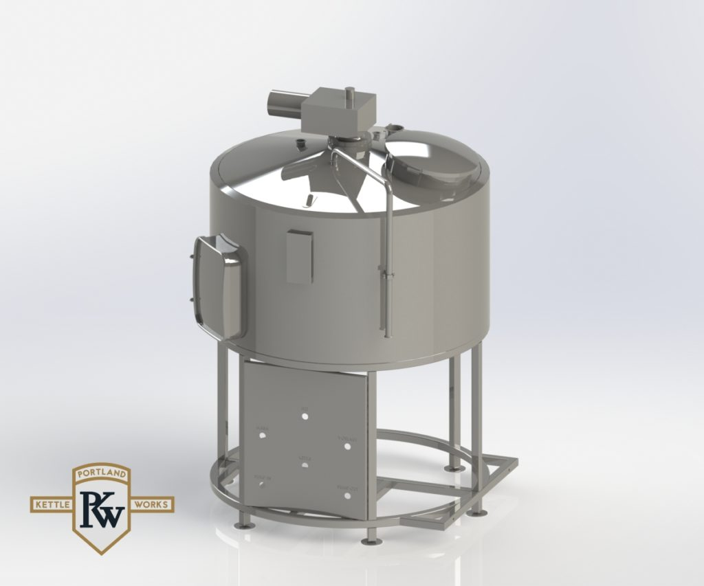 Mash Tun-Lauter Tun Combination 3D