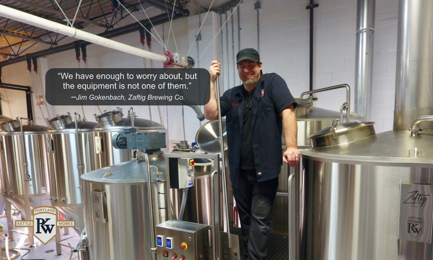 Brewing Equipment at Zaftig Brewery & Client Testimonial